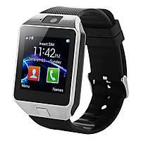 Смарт-часы (Smart Watch) Умные часы DZ09 silver, фото 1