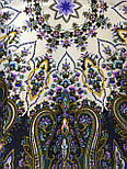 Сказочница 1763-1, павлопосадский платок шерстяной (двуниточная шерсть) с шелковой вязаной бахромой, фото 7