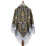 Сказочница 1763-1, павлопосадский платок шерстяной (двуниточная шерсть) с шелковой вязаной бахромой, фото 3