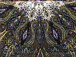 Сказочница 1763-1, павлопосадский платок шерстяной (двуниточная шерсть) с шелковой вязаной бахромой, фото 5