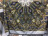 Сказочница 1763-1, павлопосадский платок шерстяной (двуниточная шерсть) с шелковой вязаной бахромой, фото 4