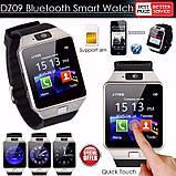 Смарт-годинник (Smart Watch) Розумні годинник DZ09 silver, фото 2