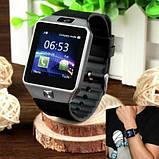 Смарт-годинник (Smart Watch) Розумні годинник DZ09 silver, фото 8