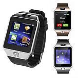 Смарт-годинник (Smart Watch) Розумні годинник DZ09 silver, фото 6