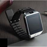 Смарт-часы (Smart Watch) Умные часы DZ09 silver, фото 3