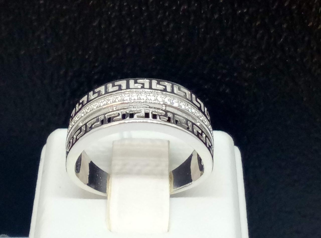 Серебряное кольцо с фианитами. Артикул К2Ф/461 17,4
