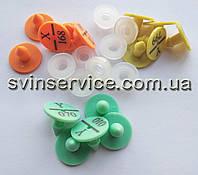 Міні бирки круглі 18 мм для ідентифікації кролів, нутрій, кішок, собак (упаковка - 100 штук)