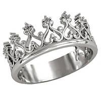 "Серебряное кольцо ""Корона"" / Mz 0699к"