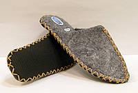 Войлочные эксклюзивные тапочки для мужчин с бежевым шнурком, фото 1