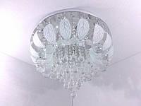 Люстра потолочная с цветной LED подсветкой с пультом (32х45х45 см.) Хром YR-2166/450