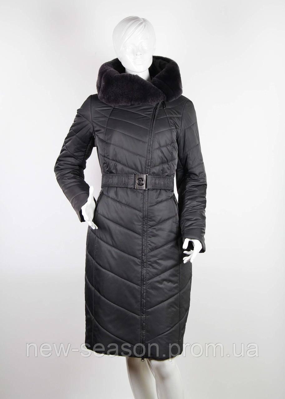Пальто Klasika Moda на верблюжьей шерсти 1869-T-5 графит