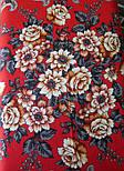 Река любви 1773-2, павлопосадский платок шерстяной (двуниточная шерсть) с шелковой вязаной бахромой, фото 7