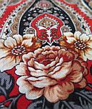 Река любви 1773-2, павлопосадский платок шерстяной (двуниточная шерсть) с шелковой вязаной бахромой, фото 3