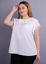 легкая офисная блузка Руна белый