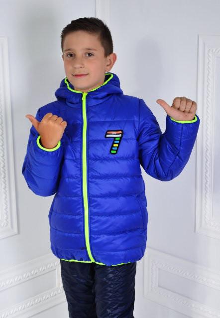 Курточка підліткова демісезонна для хлопчика 122-140см.
