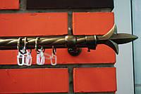 Карниз металлический двойной кмк Лилия антик-3м