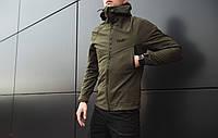 """Мужская демисезонная куртка Pobedov """"Soft Shell"""" Khaki (S, М, L, XL размеры)"""