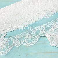 Кружево-вышивка на тюле 52 мм белое, фото 1