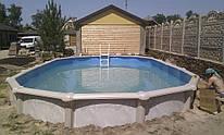 Установка сборных стационарных бассейнов Atlantic Pools.