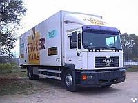 Лобовое стекло MAN M2000 узкая кабина, триплекс