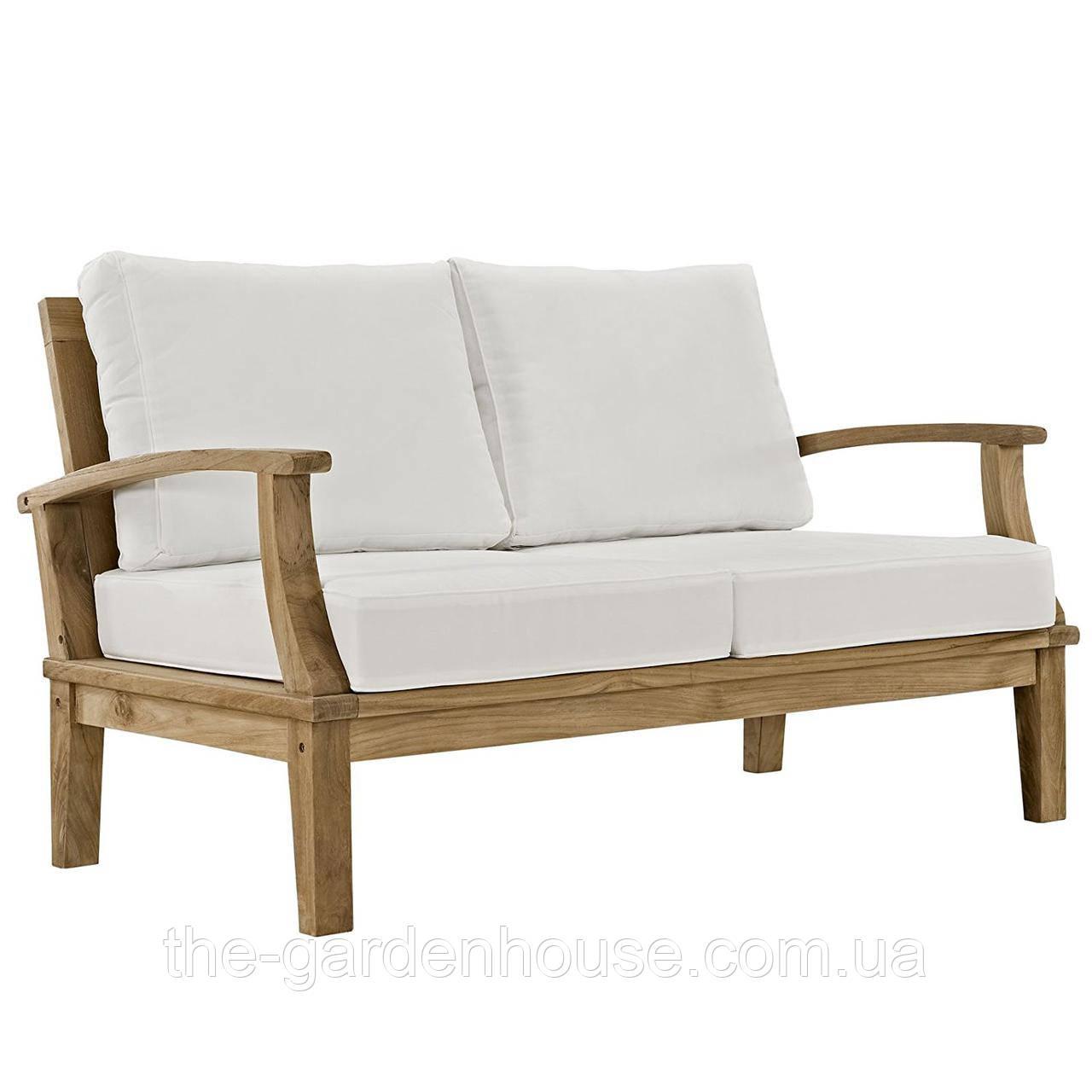 Садовый диван из дерева тика