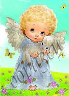 Схема для вышивки бисером Ангелок и барашек КМР 5065