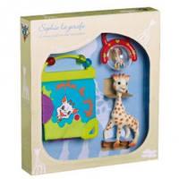 """Игровой набор для новорожденных Vulli """"Жирафик Софи с книжкой и погремушкой"""""""