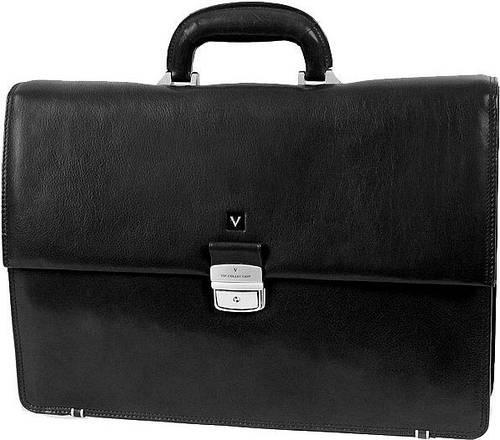 Стильный деловой кожаный портфель Vip Collection 121A черный