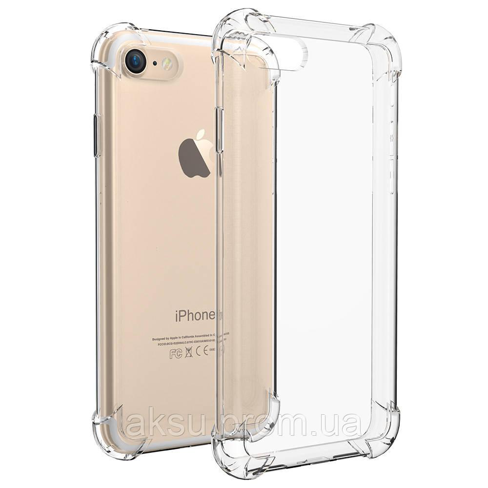 Силиконовий чехол для iPhone 7 / 8 прозрачный 0.8 mm