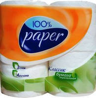 """Туалетная бумага """"Paper"""" (4шт./уп., 16 уп./бл.)"""
