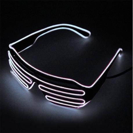 Светодиодные Led El очки светящиеся очки для вечеринок, пати. White, фото 2