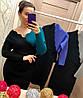 Женское трикотажное платье на запах в расцветках. Д-24-0918 (023), фото 2