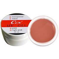 УФ гель CCN - бежево-розовый, фото 1