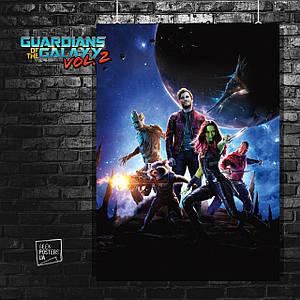 Постер GOTG, Стражи Галактики. Размер 60x42см (A2). Глянцевая бумага