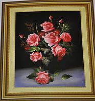 """Вышивка крестиком со схемой """"Красивые Розы"""""""