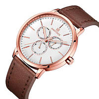 Naviforce Мужские часы Naviforce Business Leather Gold NF3001, фото 1