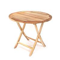 Стол круглый складной SANTA из тика, Ø 90 см