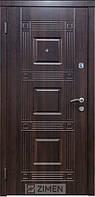 Бронированная дверь Zimen  Министр Темный орех (960) R