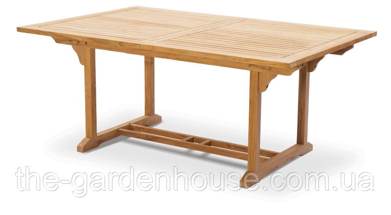 Стол прямоугольный раскладной DELI из тика