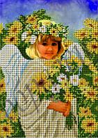 Схема для вышивки бисером Ангелочек с цветами КМР 4161