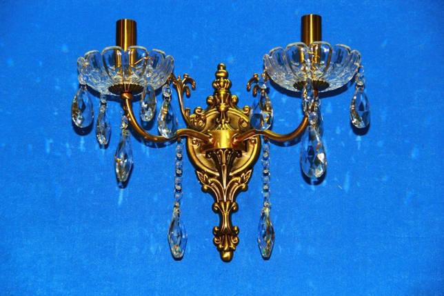 Бра настенная на две лампочки cвечи (ВЛ) B29320/2 (GAB), фото 2