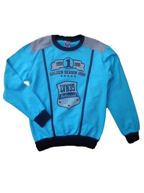 Детский Батник для мальчиков  LVN35 голубой 5-8лет Турция.