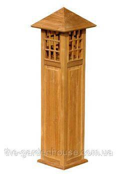 Лампа садовая из тикового дерева 60 см