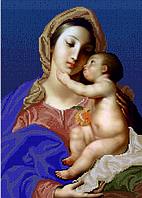 Схема для вышивки бисером Мадонна с Младенцем.Помпео Батони КМР 3181