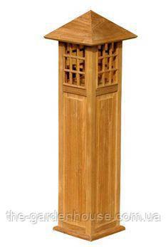 Лампа садовая из тикового дерева 90 см
