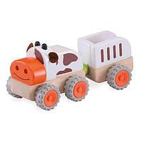 Игрушечный транспорт Wonderworld Машинка BUILD  Му-Му Трактор