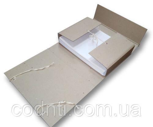 Папка-короб на завязках 100 мм