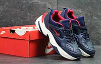 Кроссовки женские темно синие с белым Nike М2K 6212