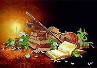 Схема для вышивки бисером Натюрморт со скрипкой КМР 3178