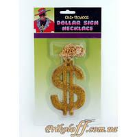 Реперская Золотая цепь с Большим долларом